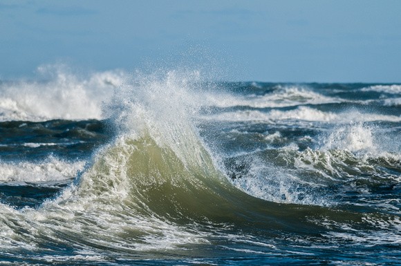 Clapotis Waves at Cape Hatteras Point on a clear day