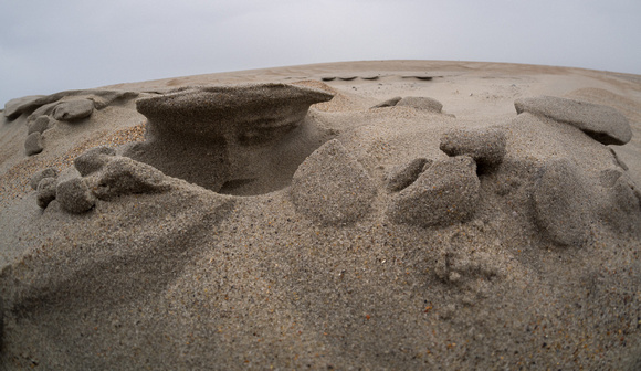 Sand Hoodoo formation caused by wind and water