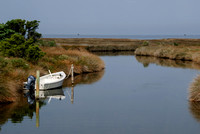 Salt marsh and wooden boat, Ocracoke, NC (#159)