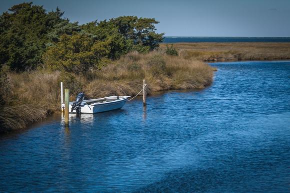 Fishing boat in the marsh on Ocracoke Island