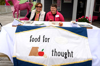 Ann Kaplan and Cole Fagersten representing Food for Thought, one of the non-profit beneficiaries.